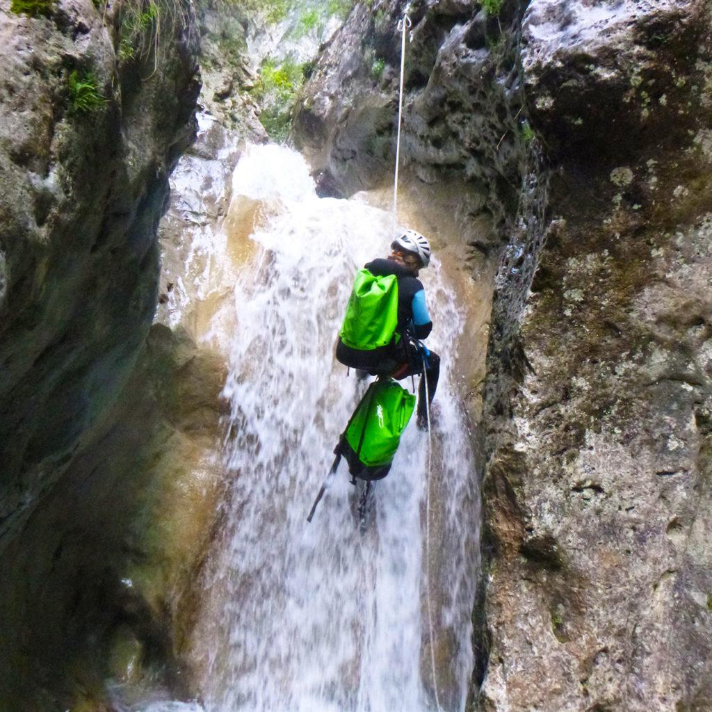 descente en rappel canyon verdon
