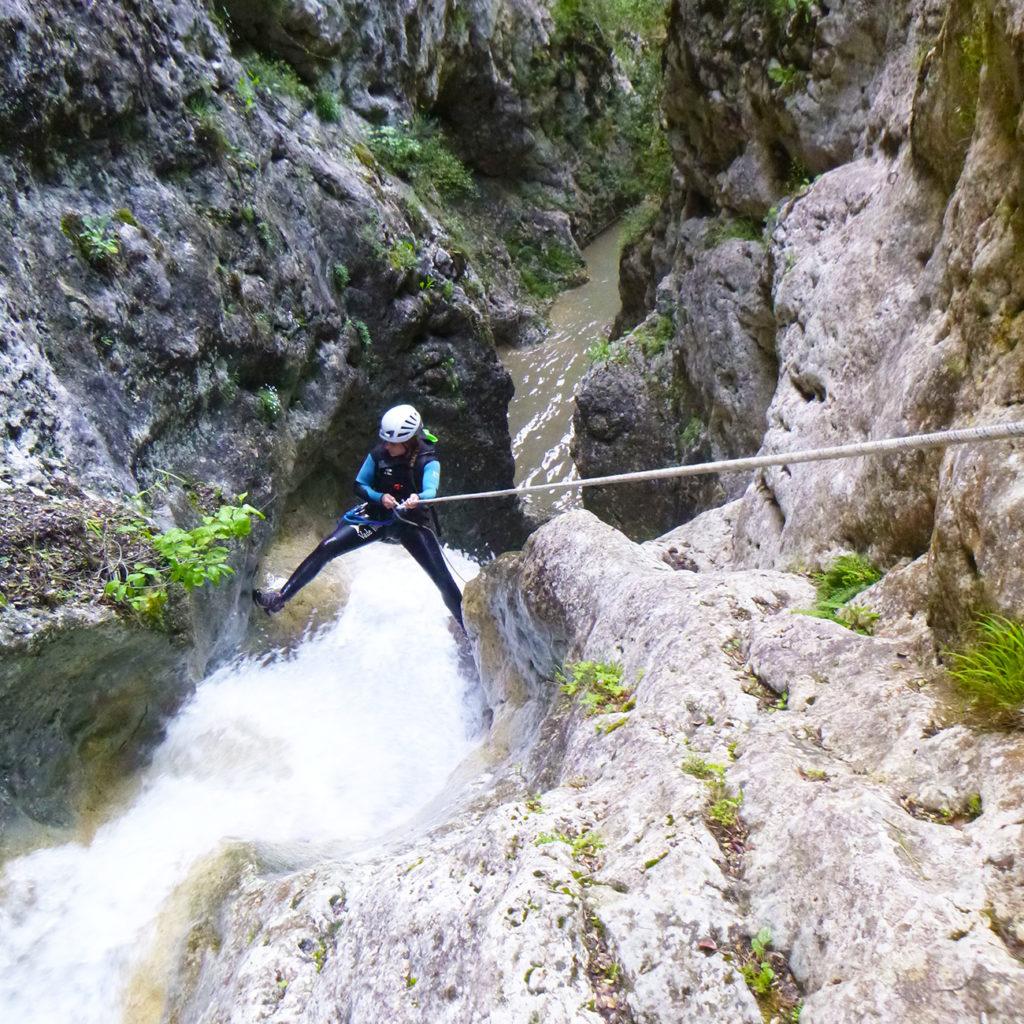 descente en rappel canyon